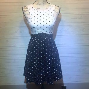 Bailey Blue Navy/ White Polka Dot A-Line Dress